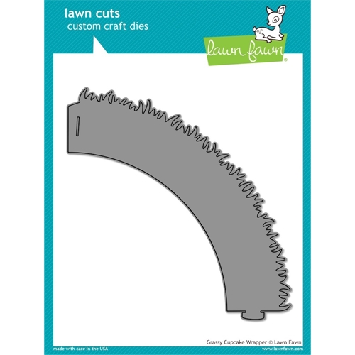 Lawn Fawn GRASSY CUPCAKE WRAPPER Lawn Cuts Die LF855 Preview Image