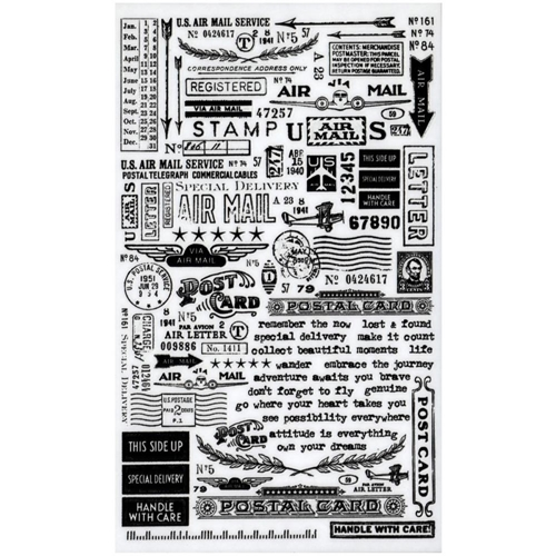Tim Holtz Idea-ology Remnant Rubs  SPECIAL DELIVERY TH93188 Preview Image