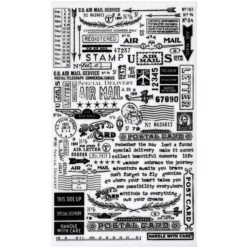 Tim Holtz Idea-ology Remnant Rubs  SPECIAL DELIVERY TH93188 zoom image