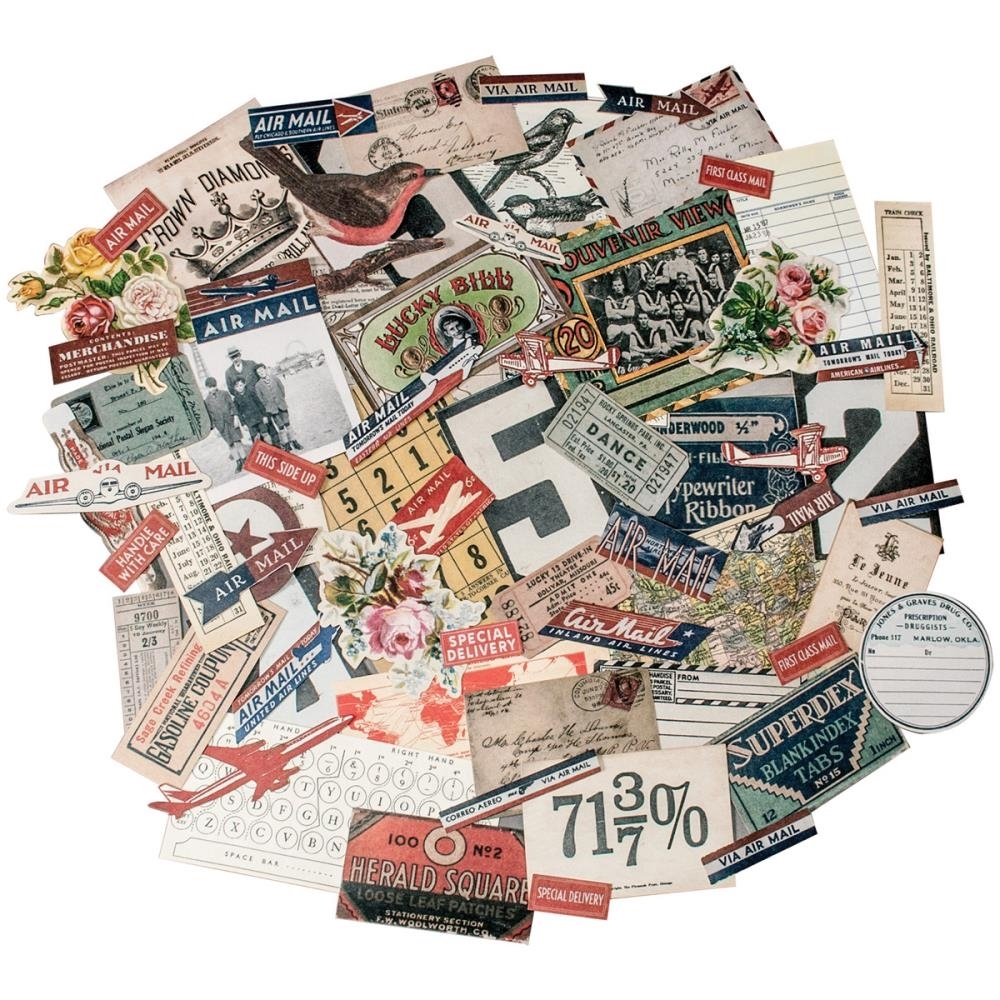 Tim Holtz Idea-ology Ephemera Pack  EMPORIUM TH93189 zoom image