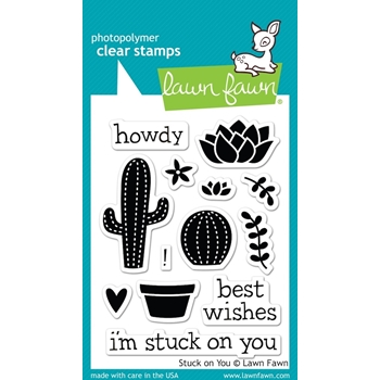 Lawn Fawn STUCK ON YOU Clear Stamps LF850