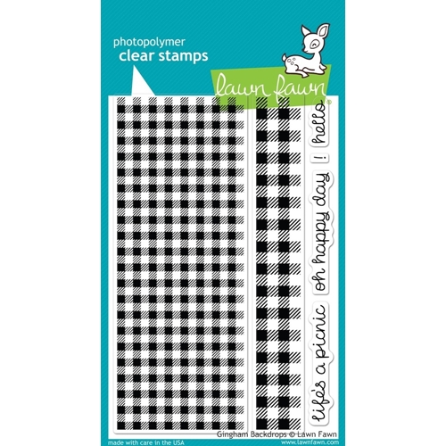 Lawn Fawn GINGHAM BACKDROPS Clear Stamps LF847 Preview Image