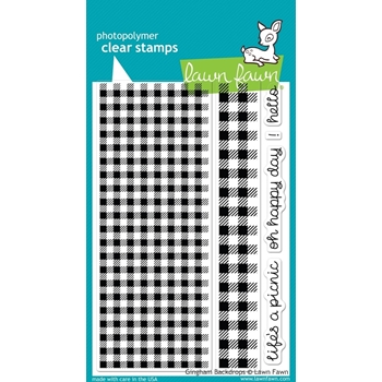Lawn Fawn GINGHAM BACKDROPS Clear Stamps LF847