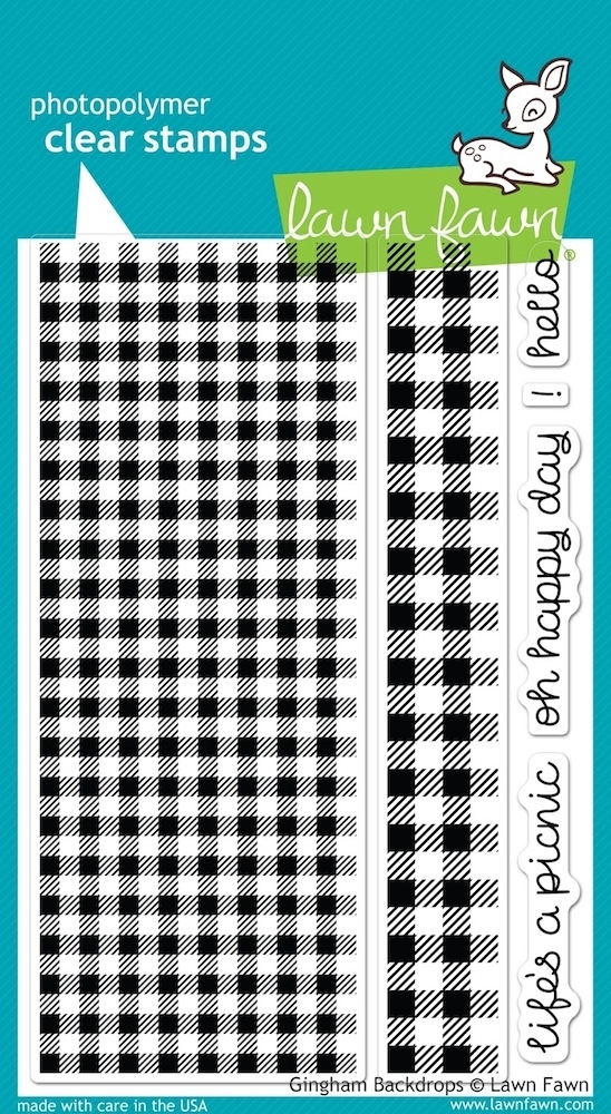 Lawn Fawn GINGHAM BACKDROPS Clear Stamps LF847 zoom image
