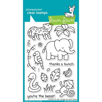 Lawn Fawn CRITTERS IN THE JUNGLE Clear Stamps LF803