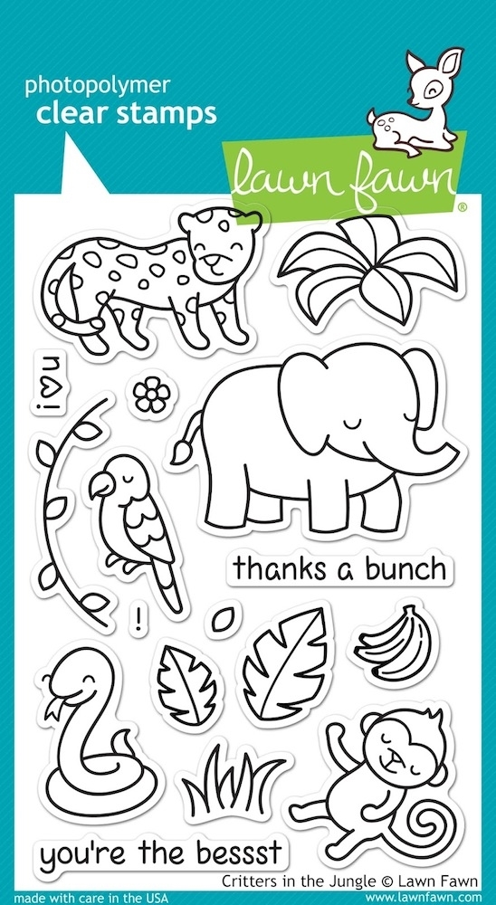 Lawn Fawn CRITTERS IN THE JUNGLE Clear Stamps LF803 zoom image