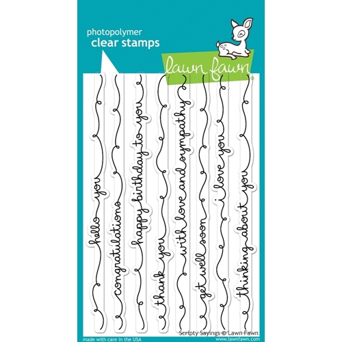 Lawn Fawn SCRIPTY SAYINGS Clear Stamps LF844 Preview Image