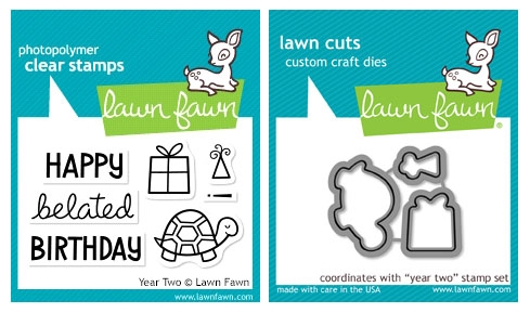 Lawn Fawn SET LF215YTW BELATED BIRTHDAY Clear Stamps And Dies Preview Image