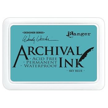 Ranger Wendy Vecchi Archival SKY BLUE Ink Pad AID45656 *