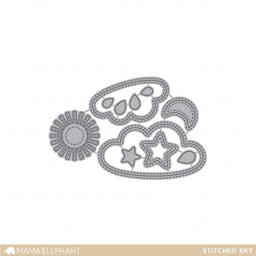 Mama Elephant STITCHED SKY DIE Creative Cuts Steel Set  Preview Image