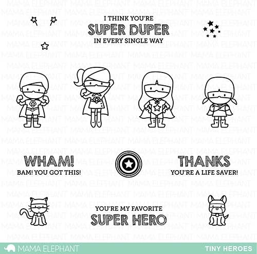 Mama Elephant Clear Stamps TINY HEROES zoom image