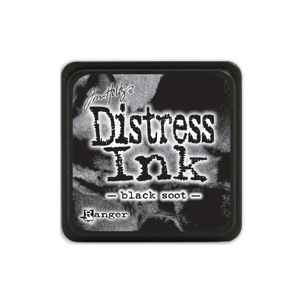 Tim Holtz Distress Mini Ink Pad BLACK SOOT Ranger TDP39860 zoom image