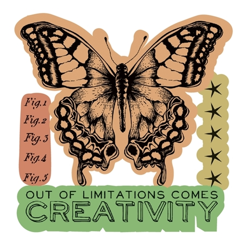 Tim Holtz Sizzix Framelits LIMITATIONS Wafer Thin Die And Stamp Set 660189 Preview Image