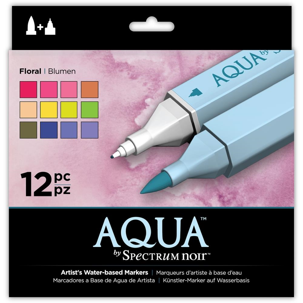 Crafter's Companion FLORAL Spectrum Aqua Markers SPECN-AQ12-FLO zoom image