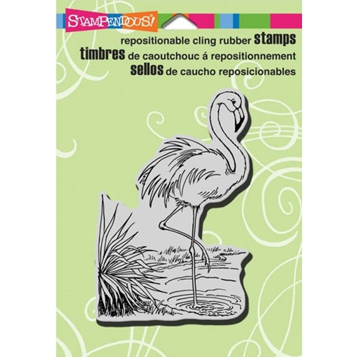 Stampendous Cling Stamp FLAMINGO Rubber UM CRP250 Preview Image