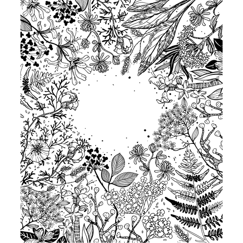 Tim Holtz Rubber Stamp  BOTANICAL SKETCH Stampers Anonymous X3-2560 Preview Image