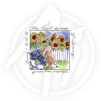 Art Impressions FIRST BLOOM WINDOW To the World Clear Stamp 4582