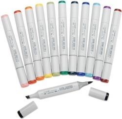 Copic 12 Bold BASIC SKETCH MARKER SET Colors zoom image