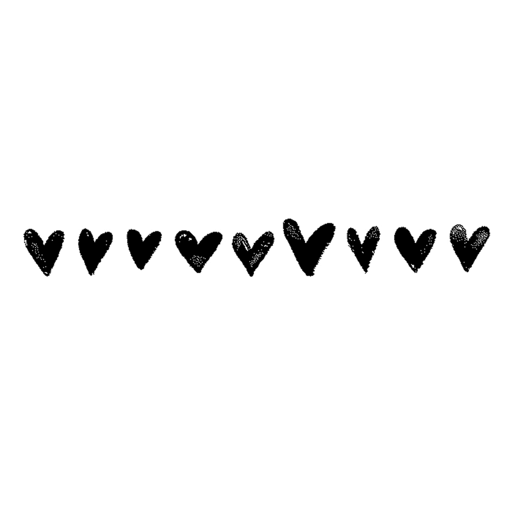 Tim Holtz Rubber Stamp  WATERCOLOR HEARTS BORDER Stampers Anonymous G3-2570 zoom image