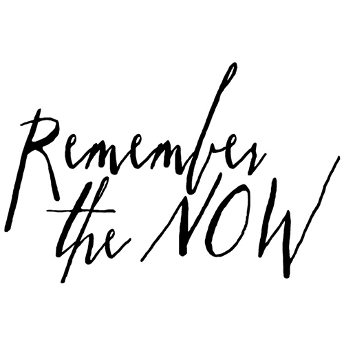 Tim Holtz Rubber Stamp WRITTEN REMEMBER THE NOW Stampers Anonymous J2-2574 Preview Image