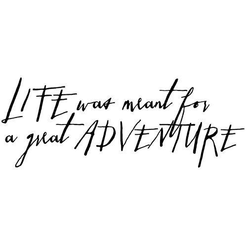 Tim Holtz Rubber Stamp WRITTEN LIFE ADVENTURE Stampers Anonymous P6-2579* Preview Image