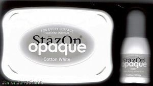 Tsukineko Stazon COTTON WHITE Ink Pad and REFILL SZ-000-110 zoom image