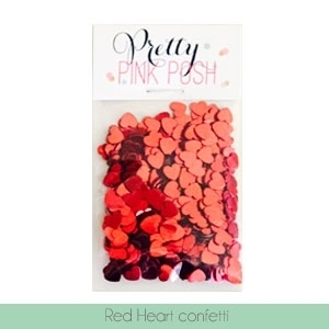Pretty Pink Posh RED HEART CONFETTI Embellishments  zoom image