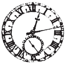 Tim Holtz Rubber Stamp WEATHERED CLOCK M2-1255 Stampers Anonymous