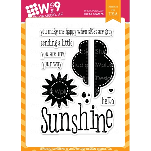 Wplus9 SENDING SUNSHINE Clear Stamps CL-WP9SSU Preview Image