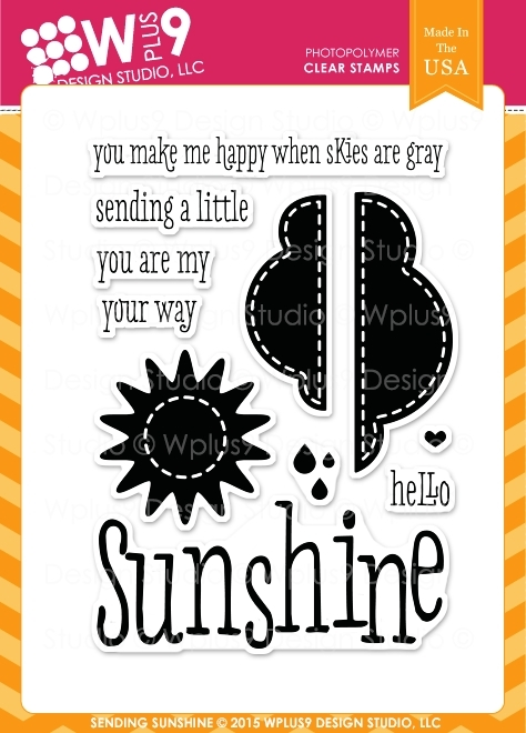 Wplus9 SENDING SUNSHINE Clear Stamps CL-WP9SSU zoom image