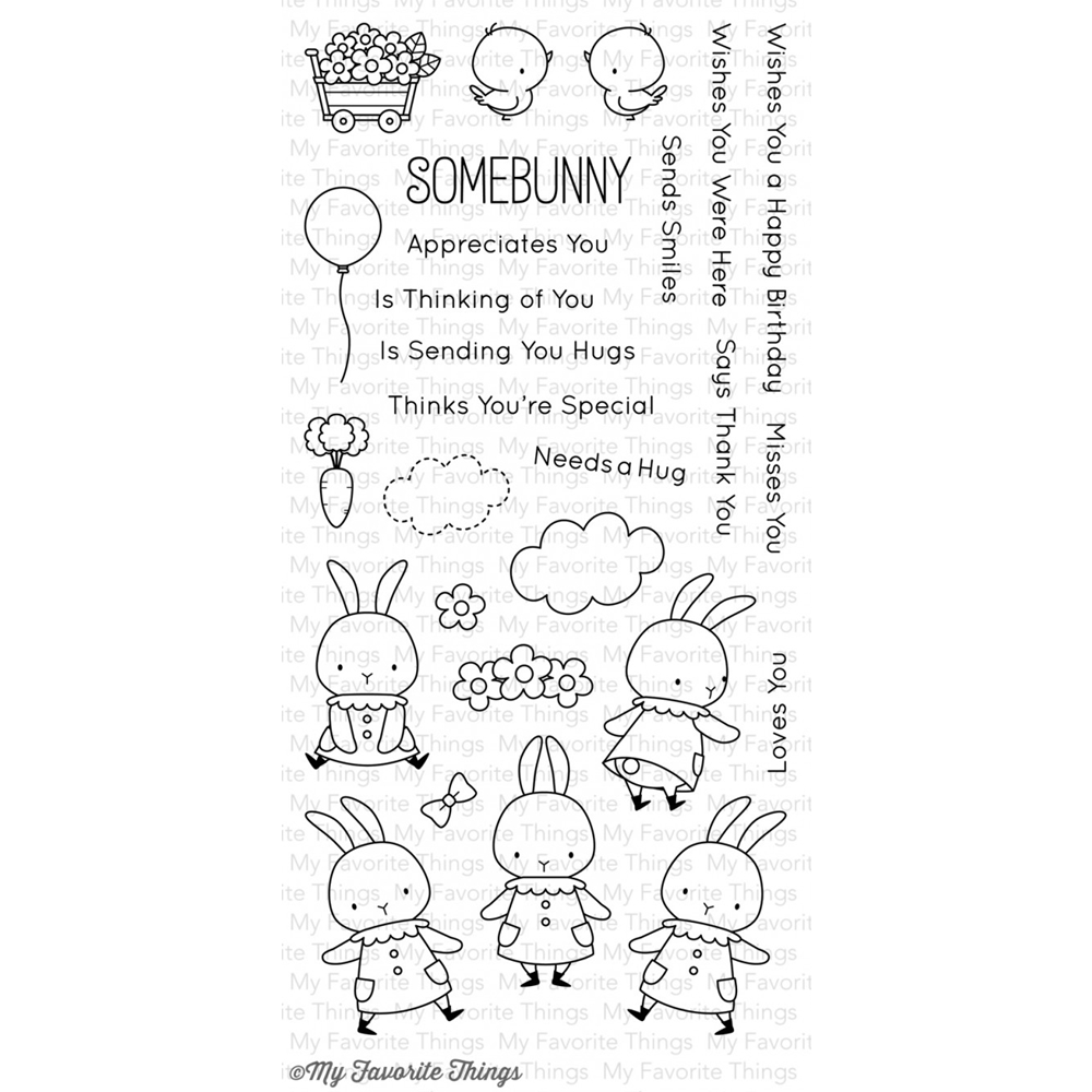 My Favorite Things SOMEBUNNY Clear Stamps MFT BB12 zoom image