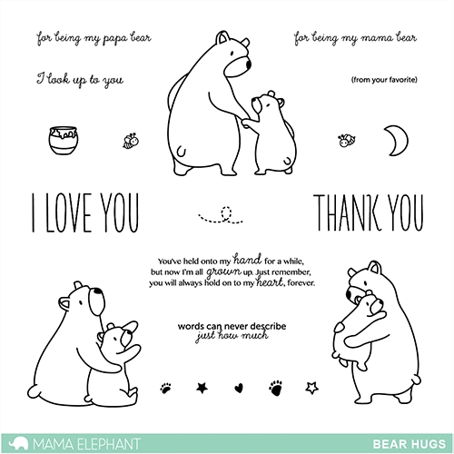 Mama Elephant Clear Stamps BEAR HUGS Preview Image