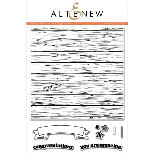 Altenew WOOD PALLET BACKGROUND Clear Stamp Set ALT1050 Preview Image
