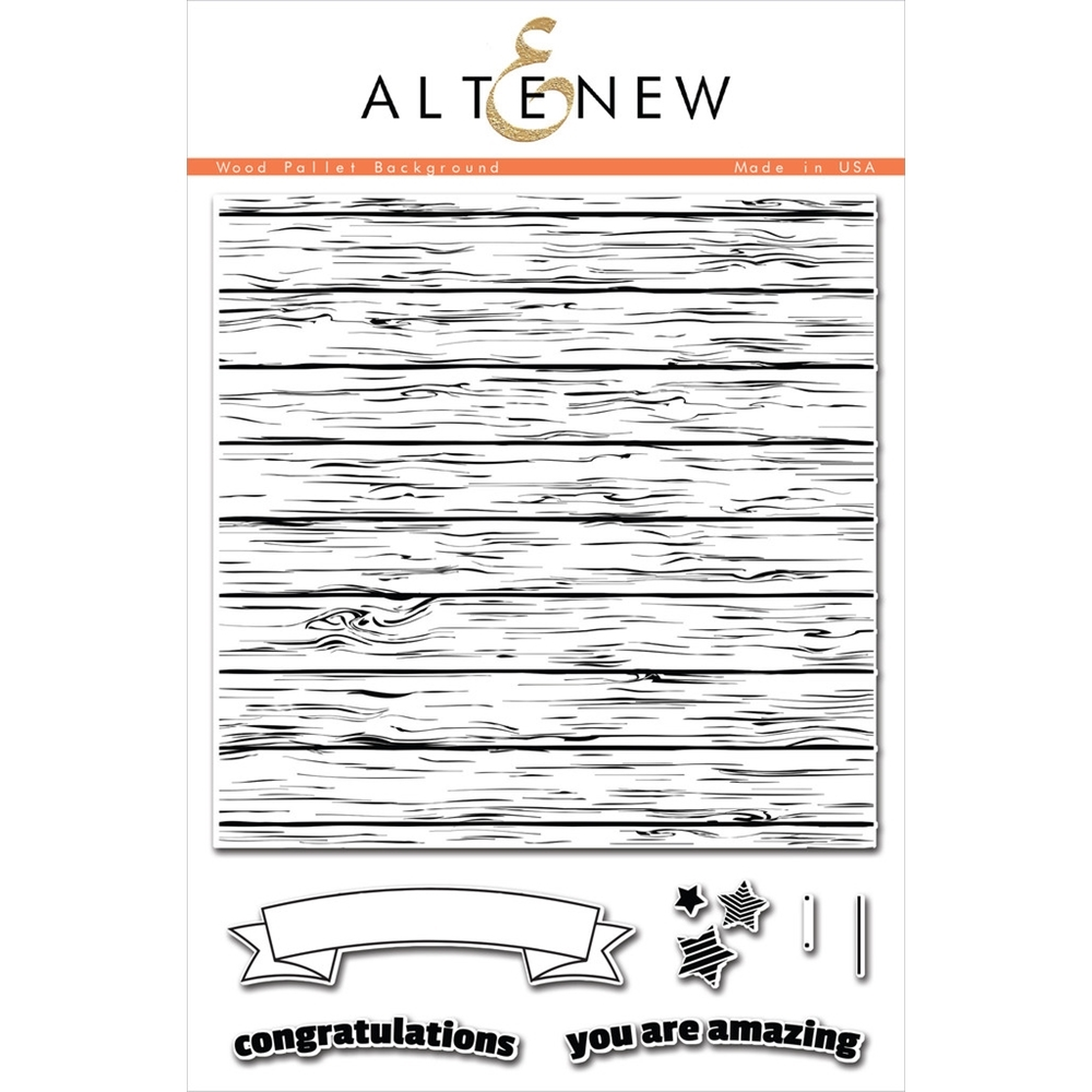 Altenew WOOD PALLET BACKGROUND Clear Stamp Set ALT1050 zoom image