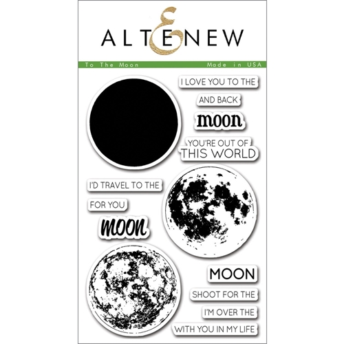 Altenew TO THE MOON Clear Stamp Set ALT1074 Preview Image