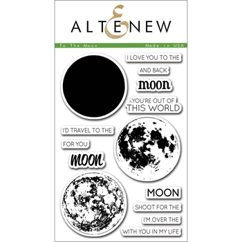 Altenew TO THE MOON Clear Stamp Set ALT1074