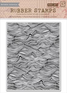 Hero Arts Cling Stamp WAVES BACKGROUND BasicGrey CG660 Preview Image
