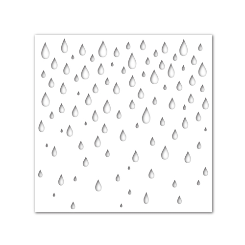 Simon Says Stamp Stencil RAINDROPS ssst121373 Hop To It Preview Image