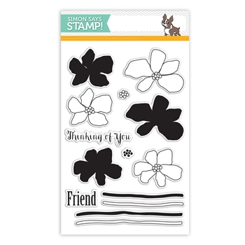 Simon Says Clear Stamps ARTFUL FLOWERS sss101488 Hop To It