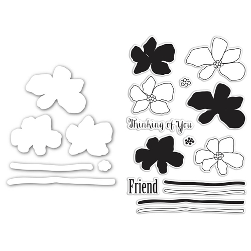 Simon Says Stamps And Dies WATERCOLOR FRIENDLY FLOWERS SetWFF178 Hop To It Preview Image