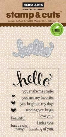 Hero Arts Stamp And Cuts HELLO Coordinating Set DC151 zoom image