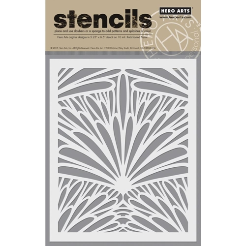 Hero Arts Stencil TROPICAL BACKGROUND SA048 Preview Image