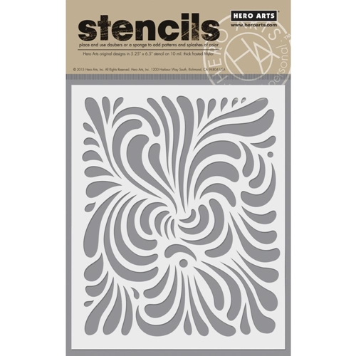 Hero Arts Stencil SWIRL SA060 Preview Image