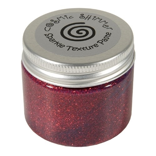 Cosmic Shimmer APPLE RED Sparkle Texture Paste 906529 zoom image