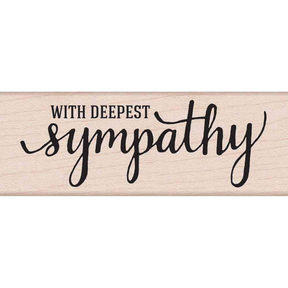 Hero Arts Rubber Stamp WITH DEEPEST SYMPATHY G6072 zoom image