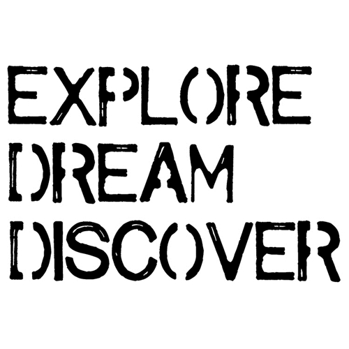 Tim Holtz Rubber Stamp EXPLORE DREAM DISCOVER Stampers Anonymous J2-2611* Preview Image