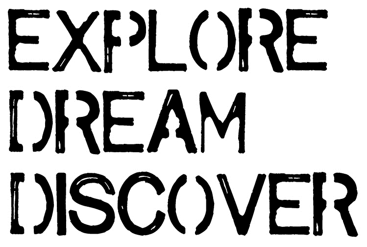Tim Holtz Rubber Stamp EXPLORE DREAM DISCOVER Stampers Anonymous J2-2611* zoom image