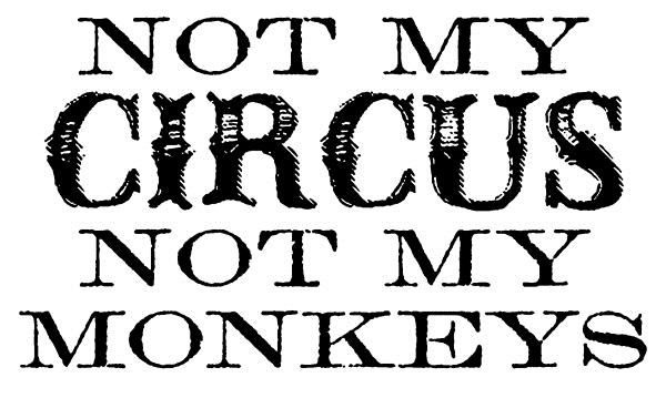 Tim Holtz Rubber Stamp NOT MY MONKEYS Stampers Anonymous E1-2607 zoom image