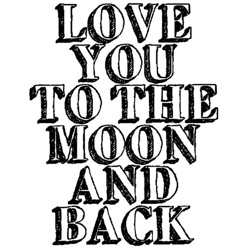 Tim Holtz Rubber Stamp TO THE MOON Stampers Anonymous K1-2613 Preview Image