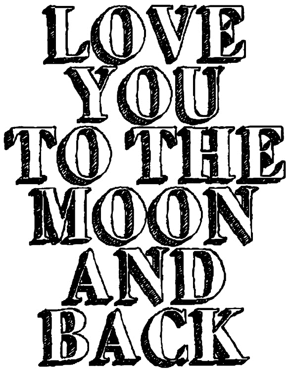 Tim Holtz Rubber Stamp TO THE MOON Stampers Anonymous K1-2613 zoom image
